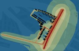 Simulationsoutput Gracio Modul Lärm City Scope